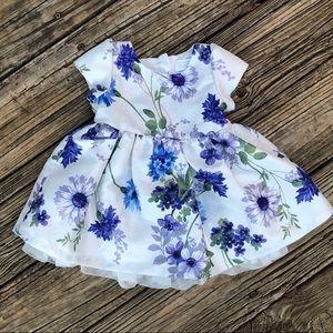 Baby Girl Spring Foil & Floral Dress